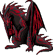 Black and Red Dragon
