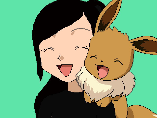 Me and My eevee!!!! :)