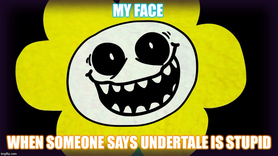 My face when someone says undertale is stupid