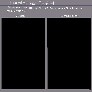 Original vs. Generator