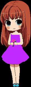 La chica del vestido lila