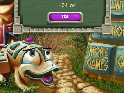 I want this game to disappear completely from the Internet zuma deluxe 404