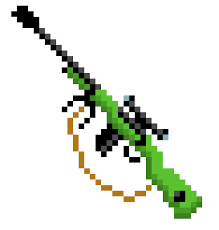 gun (sniper i think)