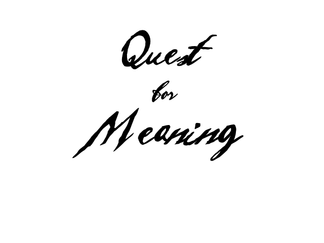 Quest for Meaning Title